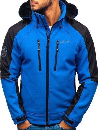 Modrá pánská softshellová bunda Bolf P06