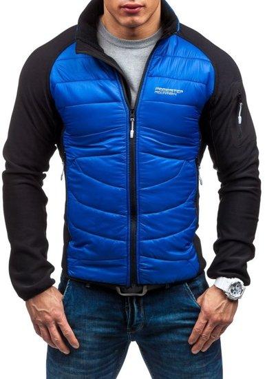 Modrá pánská softshellová bunda Bolf S015