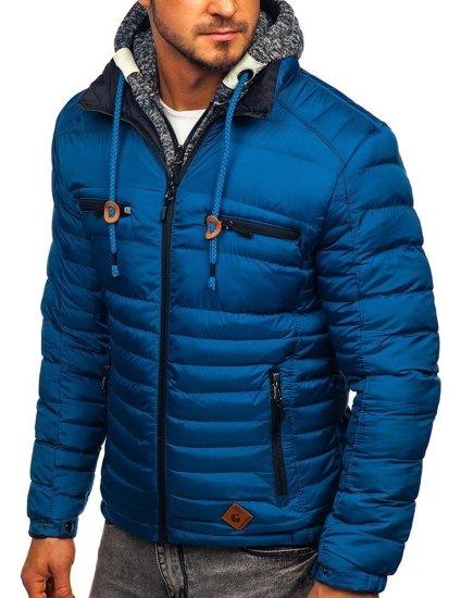 Modrá pánská sportovní zimní bunda Bolf 50A93