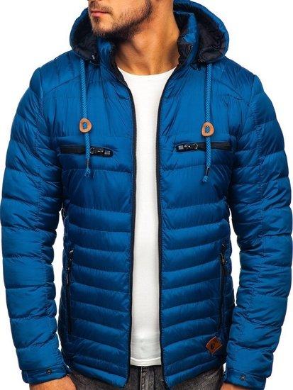 Modrá pánská sportovní zimní bunda Bolf 50A94