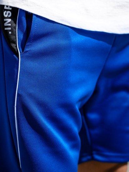 Modré pánské teplákové kraťasy Bolf KK300168