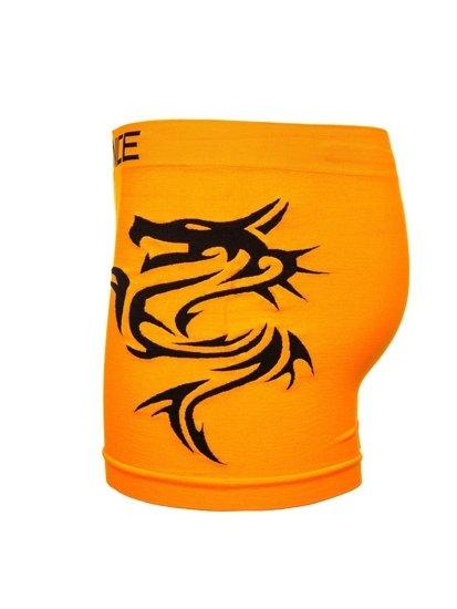 Oranžové pánské boxerky Bolf PL4258