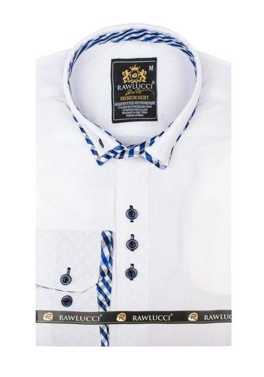 Pánská bílá elegantní košile s dlouhým rukávem Bolf 776