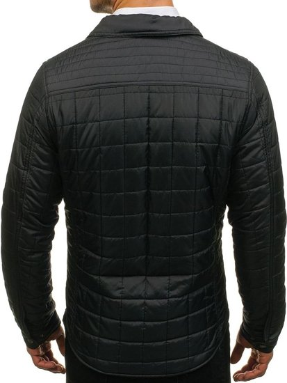 Pánská černá přechodná bunda Bolf 004