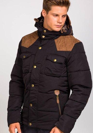 Pánská černá zimní bunda Bolf 3088