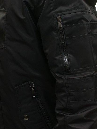 Pánská černá zimní bunda Bolf 3097