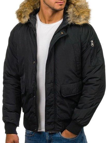 Pánská černá zimní bunda Bolf 506
