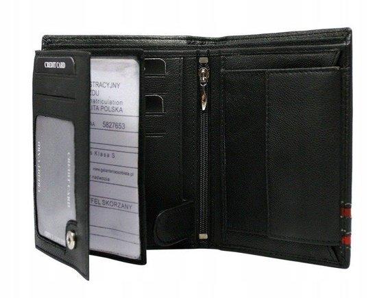 Pánská červená kožená peněženka 590