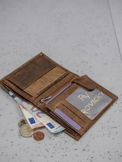 Pánská hnědá kožená peněženka 3132