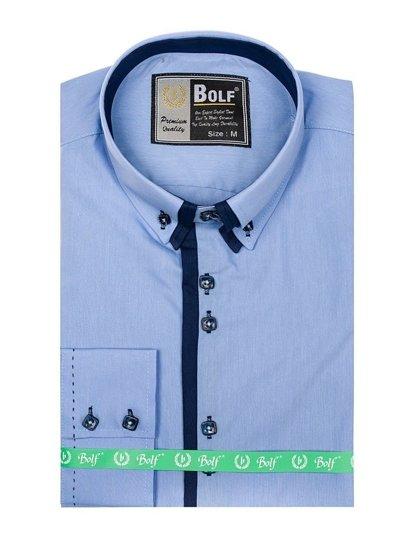 Pánská košile BOLF 1721-1 blankytná
