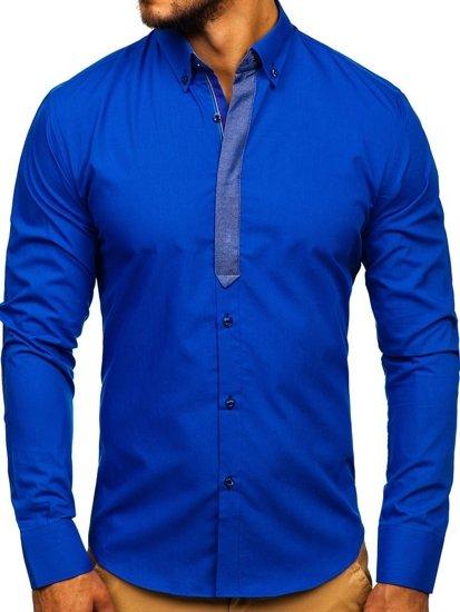 Pánská košile BOLF 3725 královsky modrá