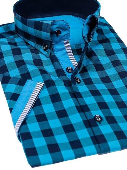 Pánská košile BOLF 4508 tyrkysová