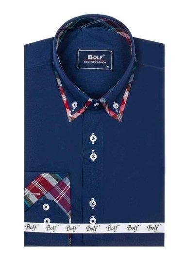 Pánská košile BOLF 4704 tmavě modrá