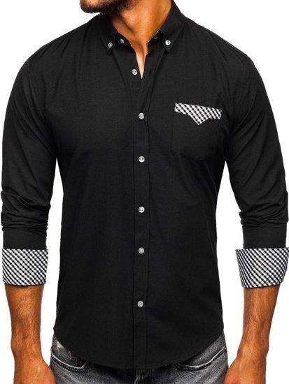 Pánská košile BOLF 4711 černá