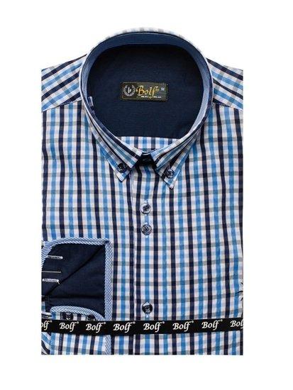 Pánská košile BOLF 4712 blankytná