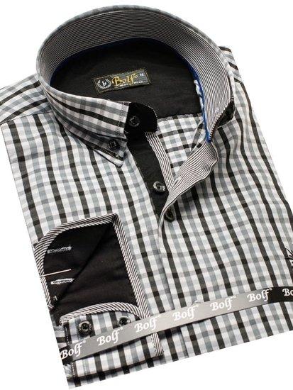 Pánská košile BOLF 4712 černá