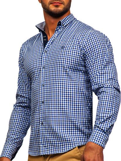 Pánská košile BOLF 4712 tmavě modrá