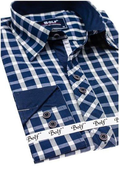 Pánská košile BOLF 4747 tmavě modrá