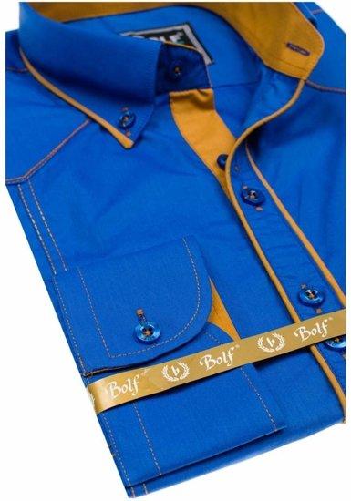 Pánská košile BOLF 4777 královsky modrá