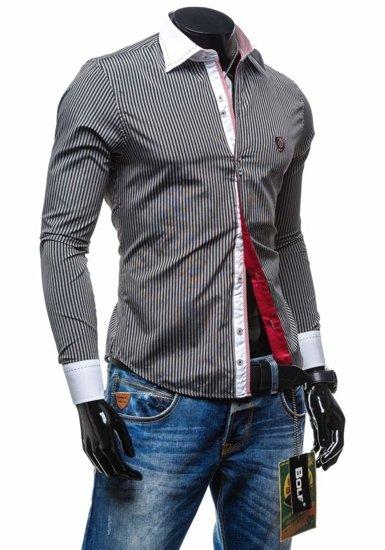 Pánská košile BOLF 4784-1 černá