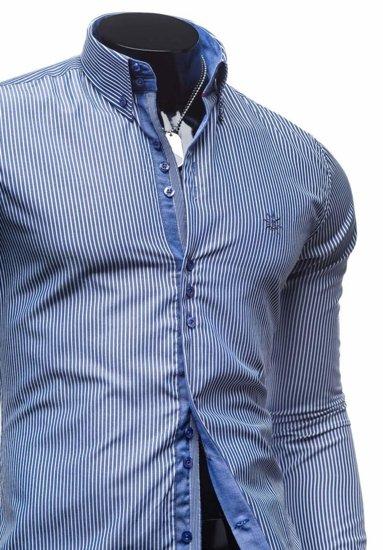 Pánská košile BOLF 4789 tmavě modrá