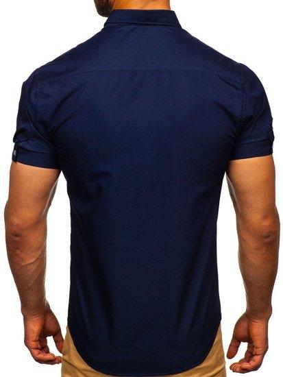 Pánská košile BOLF 5535 tmavě modrá