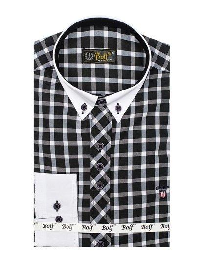 Pánská košile BOLF 5737 černá