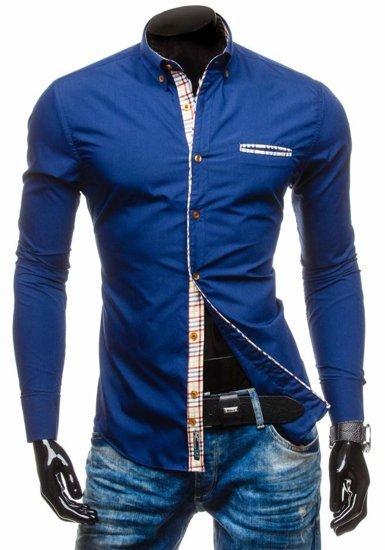 Pánská košile BOLF 5793 tmavě modrá