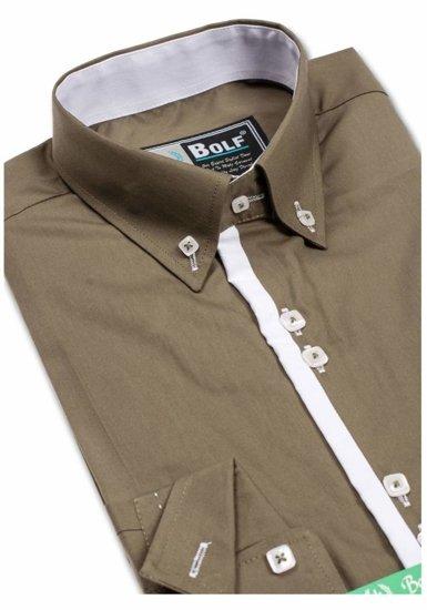 Pánská košile BOLF 5797 zelená