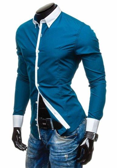 Pánská košile BOLF 5798 mořská