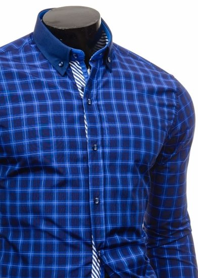 Pánská košile BOLF 5813 královsky modrá
