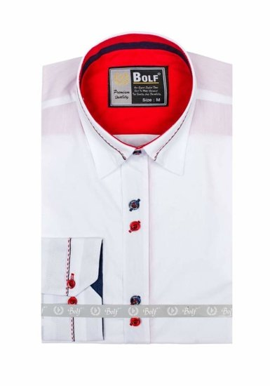 Pánská košile BOLF 5826 bílá