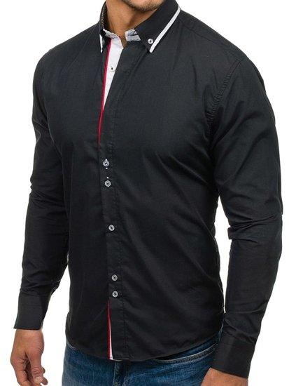 Pánská košile BOLF 6857 černá