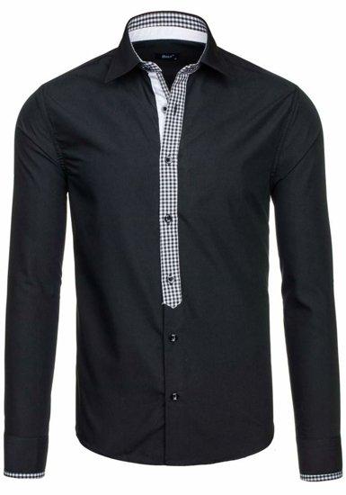 Pánská košile BOLF 6873 černá