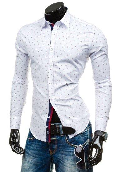 Pánská košile BOLF 6886 bílá