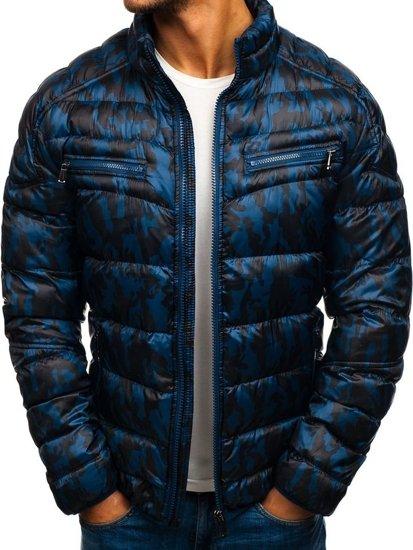 Pánská maskáčovo-tmavě modrá přechodná bunda Bolf 3156