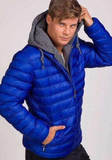 Pánská modrá zimní bunda Bolf 3110