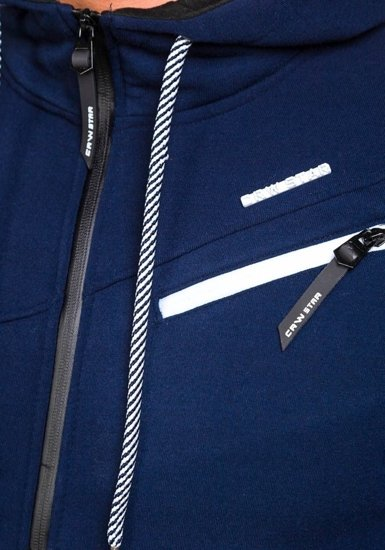 Pánská tmavě modrá mikina s kapucí Bolf 3657