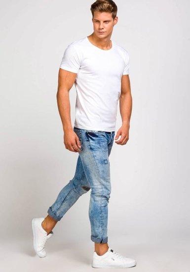 Pánské bílé tričko bez potisku Bolf 2006
