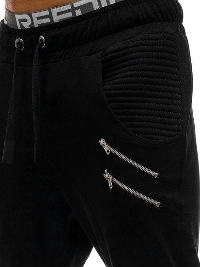 Pánské černé tepláky baggy Bolf 0476