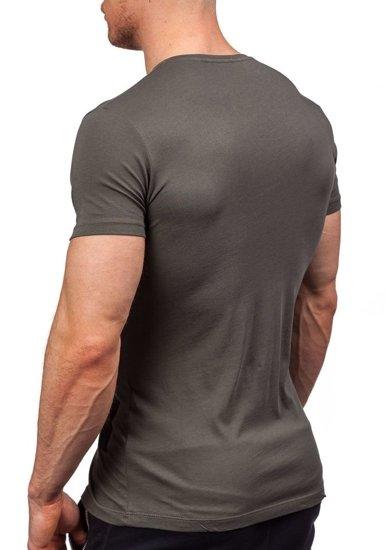 Pánské zelené tričko s potiskem Bolf 9018
