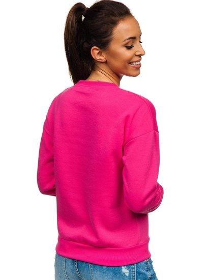 Růžová dámská mikina s potiskem Bolf KSW1013