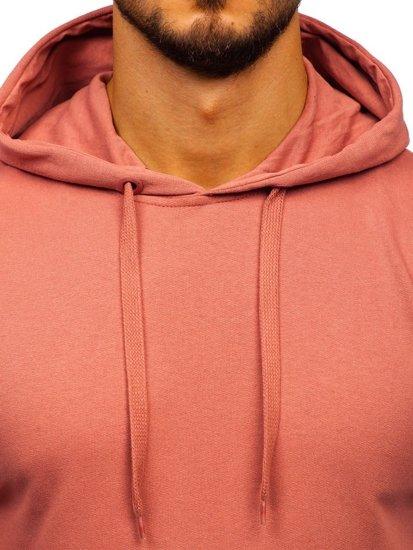 Růžová pánská mikina s kapucí Bolf 5361