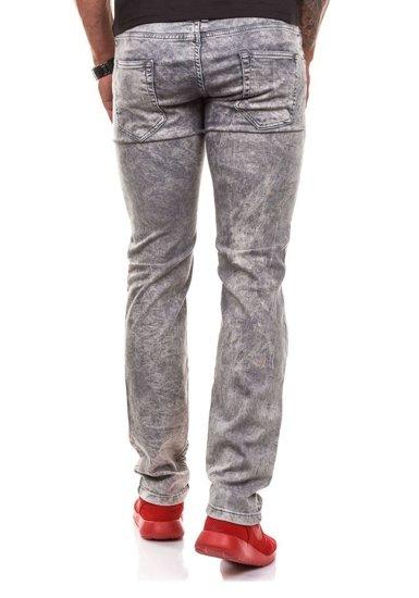 Šedé pánské džínové kalhoty Bolf 4155-1
