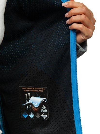 Šedo-modrá dámská přechodová softshellová bunda Bolf A5801a