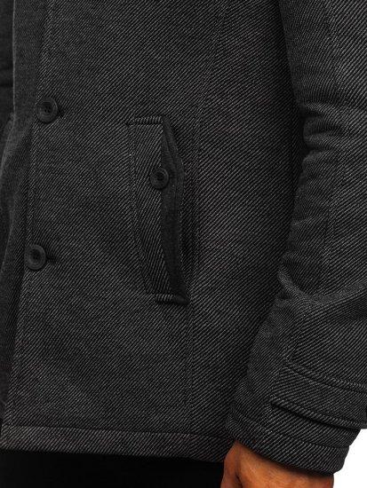 Šedý pánský kabát Bolf 1909