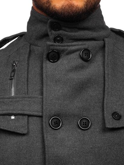 Šedý pánský kabát Bolf 8357