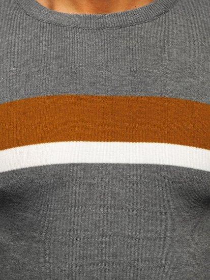 Šedý pánský svetr Bolf H2072