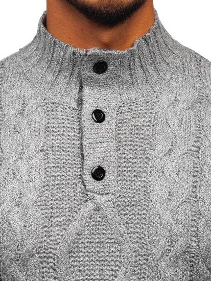 Šedý pánský svetr Bolf P088