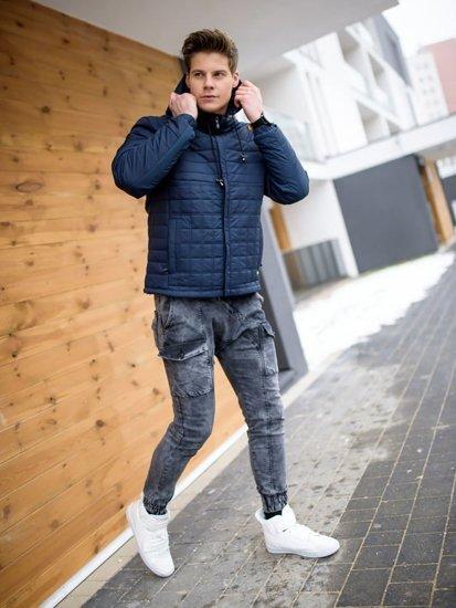 Stylizace č. 158 - přechodná bunda, džínové jogger kalhoty, tenisky